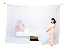 洗えるシングルベッド用蚊帳 ナイロン 白