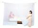 洗えるダブルベッド用蚊帳 ナイロン 白
