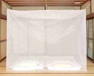 洗える大蚊帳(ポリエステル) 白 3畳