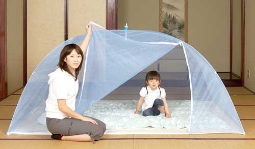 洗えるムカデ対策用ワンタッチ蚊帳 ダブル