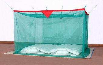 天然素材 本麻大蚊帳 グリーン 6畳
