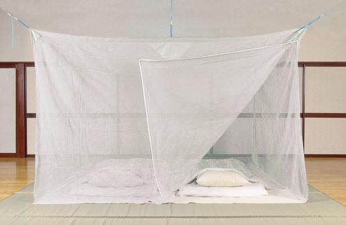 天然素材 ムカデ対策用大蚊帳 片麻 白 4.5畳