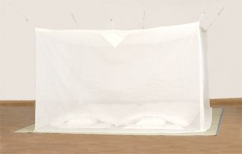 天然素材 綿大蚊帳 白 6畳