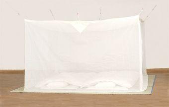 天然素材 綿大蚊帳 白 8畳