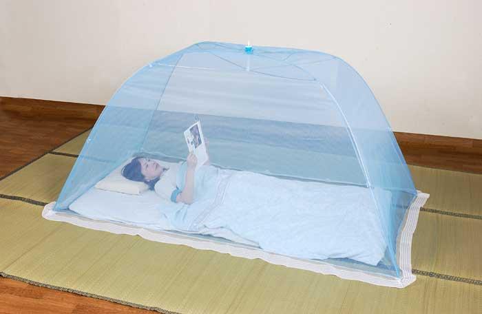 洗える多目的ジャンボ蚊帳(ワンタッチ式 シングル)