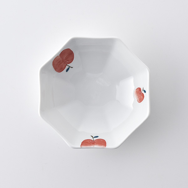 りんご 八角平鉢