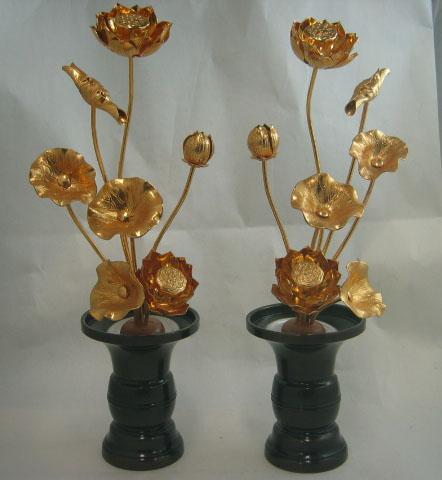常花 仏花 金蓮華 アルミ 4寸〜8寸 7本立て 常花のみ 一対用