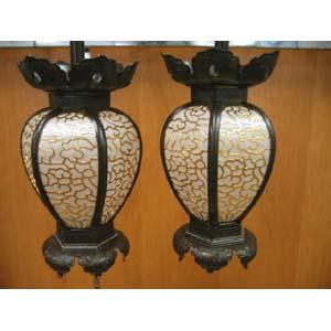 釣灯篭院玄灯篭 宣徳色付 真鍮製