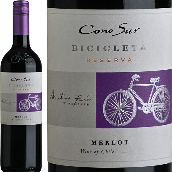赤ワイン チリ コノスル・メルロー・ビシクレタ【チリ】【赤ワイン】【750ml】【辛口】