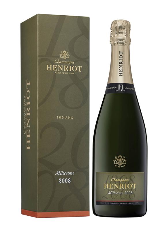 シャンパーニュ・アンリオ・ブリュット・ミレジメ 2008【シャンパン】【正規】【箱入り】【Henriot】【フランス】【750ml】【ミディアムボディ】【辛口】