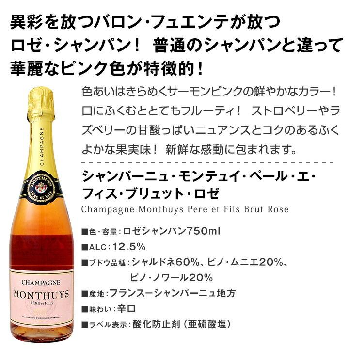 【送料無料】40%OFF!!豪華絢爛!ロゼシャンパンも入った圧倒的贅沢シャンパン!これぞ最高級エレガンス!辛口シャンパン6本セット!