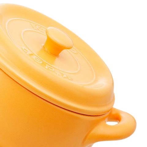 耐熱セラミック鍋 セラウェア マルチポット(イエロー) 18cm