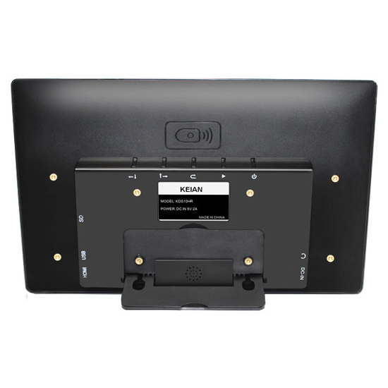 恵安 10.1インチ デジタルフォトフレーム ワイドサイネージモニター ブラック KDS10HR-B