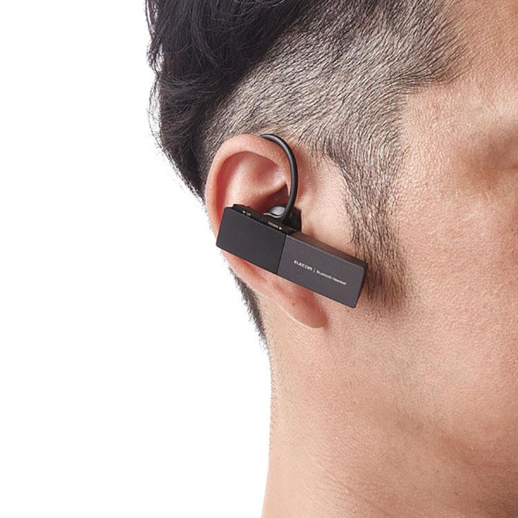 ELECOM ハンズフリー ヘッドセット Bluetooth 5.0 USB Type-C インナーイヤー 密閉 イヤホン 片耳タイプ エレコム LBT-HSC20MPBK