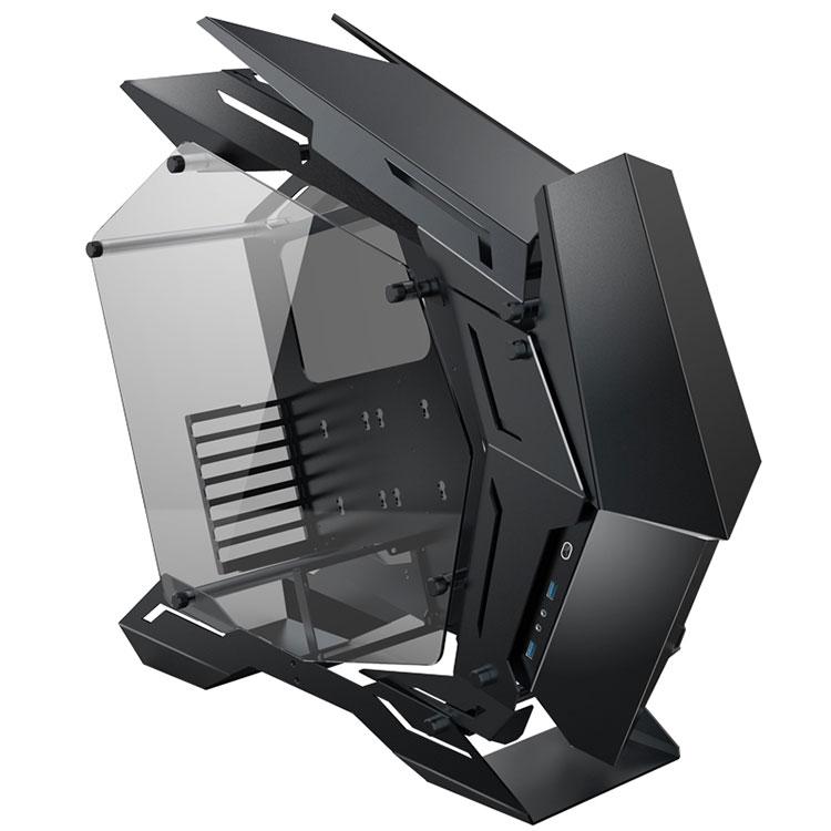 限定生産 JONSBO MOD3 MECHWARRIOR フルメタル オープンフレームPCケース E-ATX/ATX対応 アルミ合金 両面強化スモークガラス ARGB 水冷対応 開放型 ブラック MOD-3-BK
