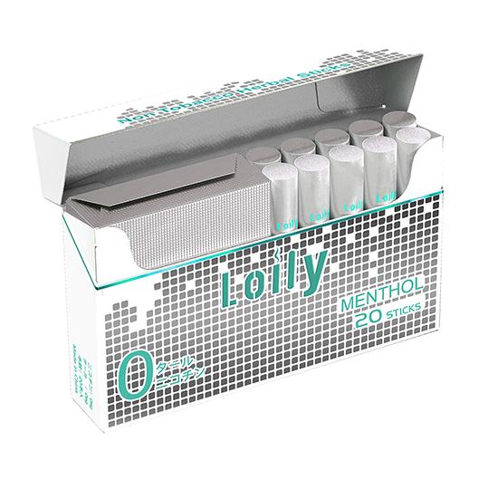 Lolly ローリー Pro スティック 1箱 ニコチンゼロ タールゼロ 電子タバコ 禁煙グッズ IQOS互換 加熱式 20本入