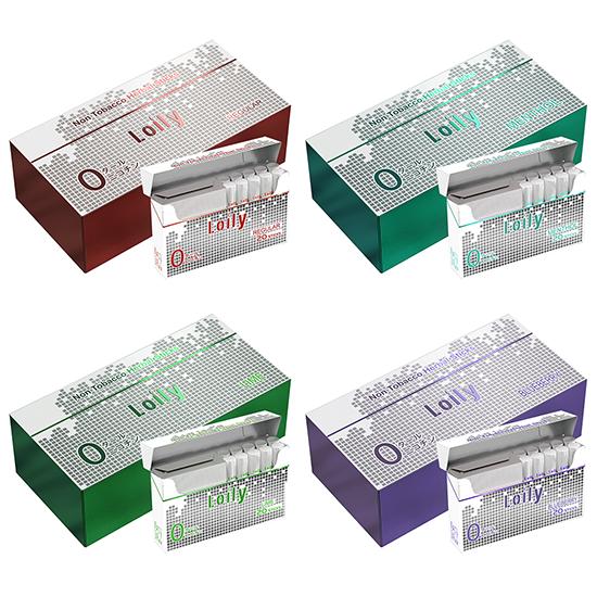 Lolly ローリー Pro スティック 1カートン ニコチン ゼロ タール ゼロ 電子タバコ 禁煙グッズ IQOS互換 加熱式 10箱入