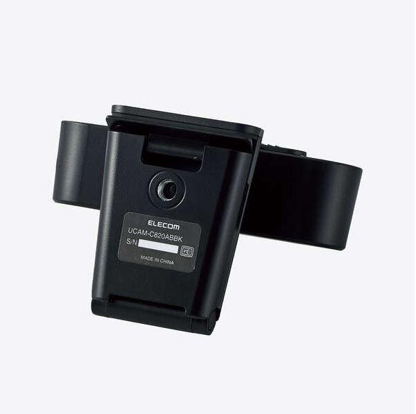 ELECOM 200万画素 Webカメラ オートフォーカス対応 マイク内蔵 テレワーク エレコム UCAM-C820ABBK