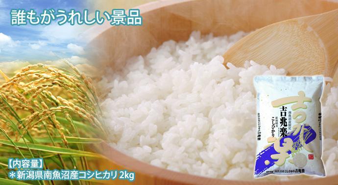 [パネもく!]新潟県南魚沼産こしひかり2kg(目録・A4パネル付)[当日出荷可]