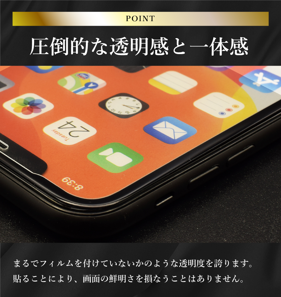 【高性能全面】強化ガラスフィルム iPhoneシリーズ対応