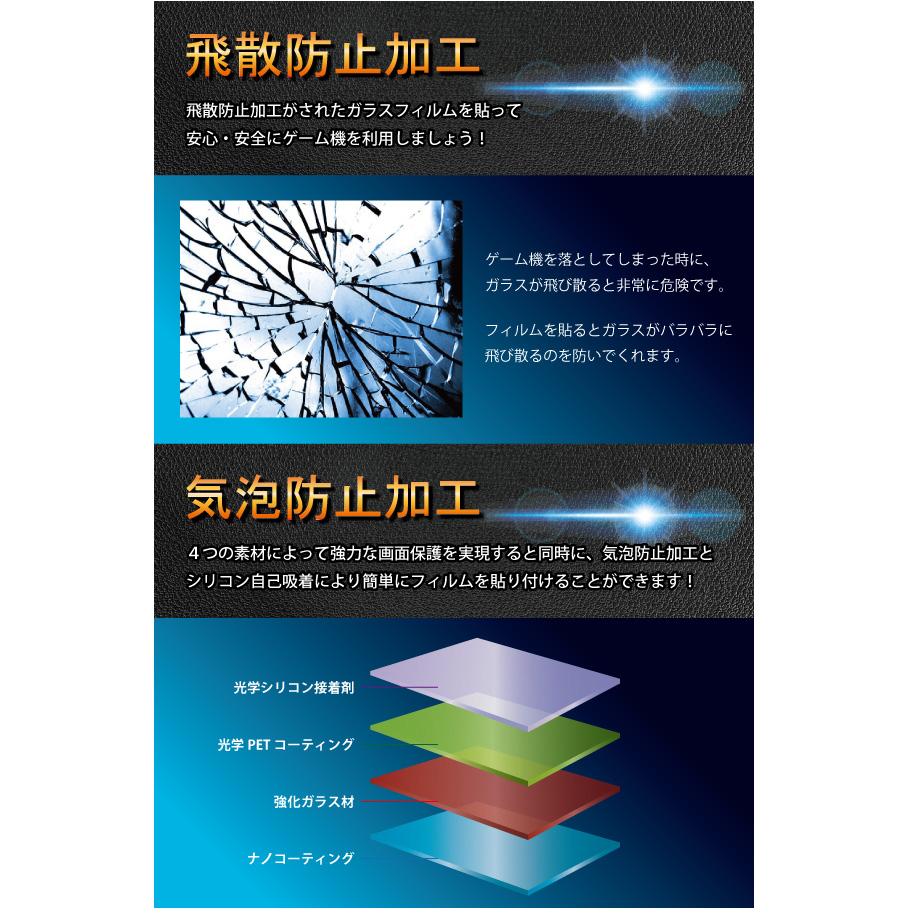 Nintendo Switch専用 強化ガラス 保護フィルム