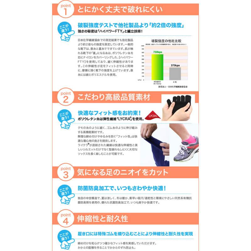 【2足セット 送料無料】 5本指 スニーカー丈 ローカット 靴下 レディース