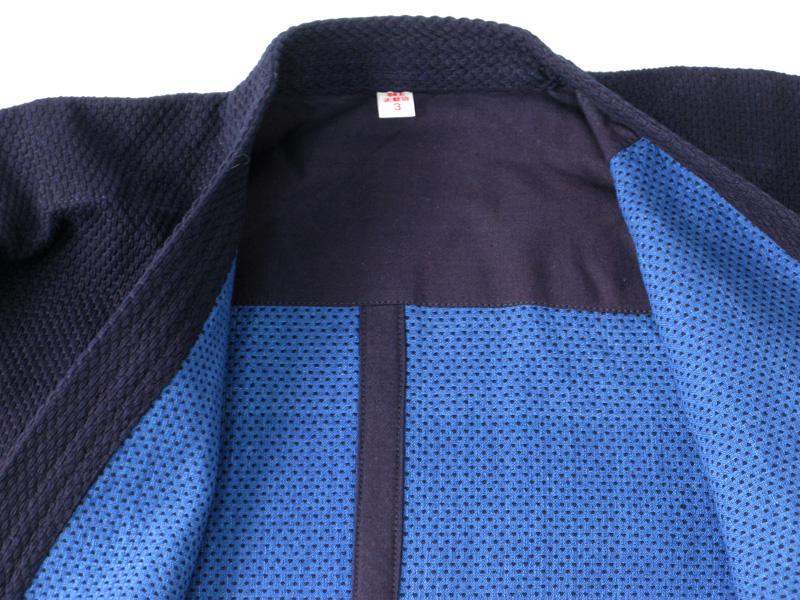 正藍染二重剣道着+正藍染10000番綿袴 【剣道 剣道着 袴 セット】