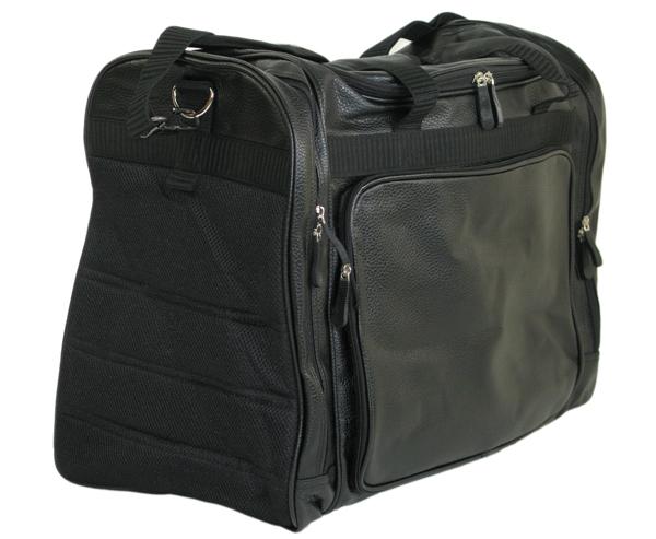 PVCワイドバッグ(黒・クッションパッド付)