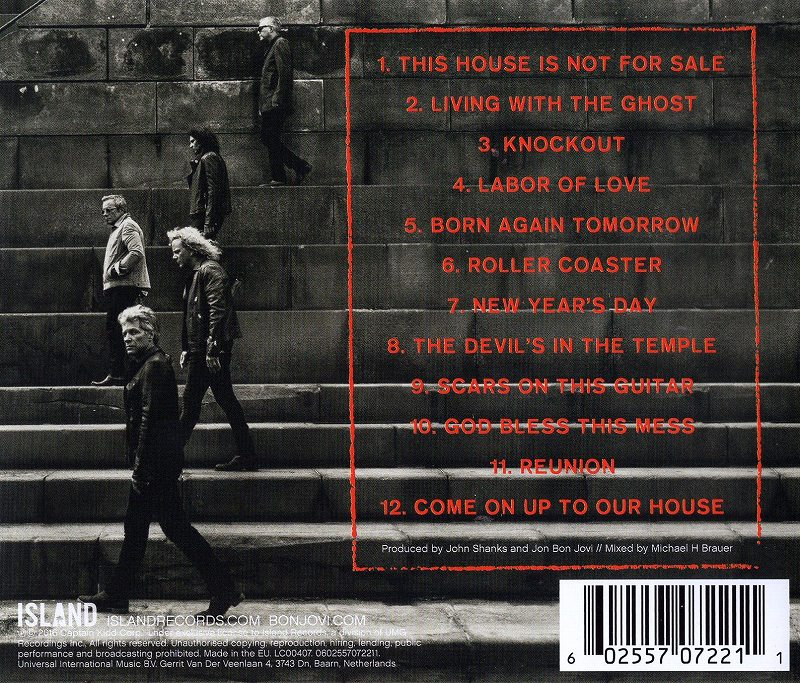 BON JOVI/THIS HOUSE IS NOT FOR SALE ボン・ジョヴィ 2016年作 新品