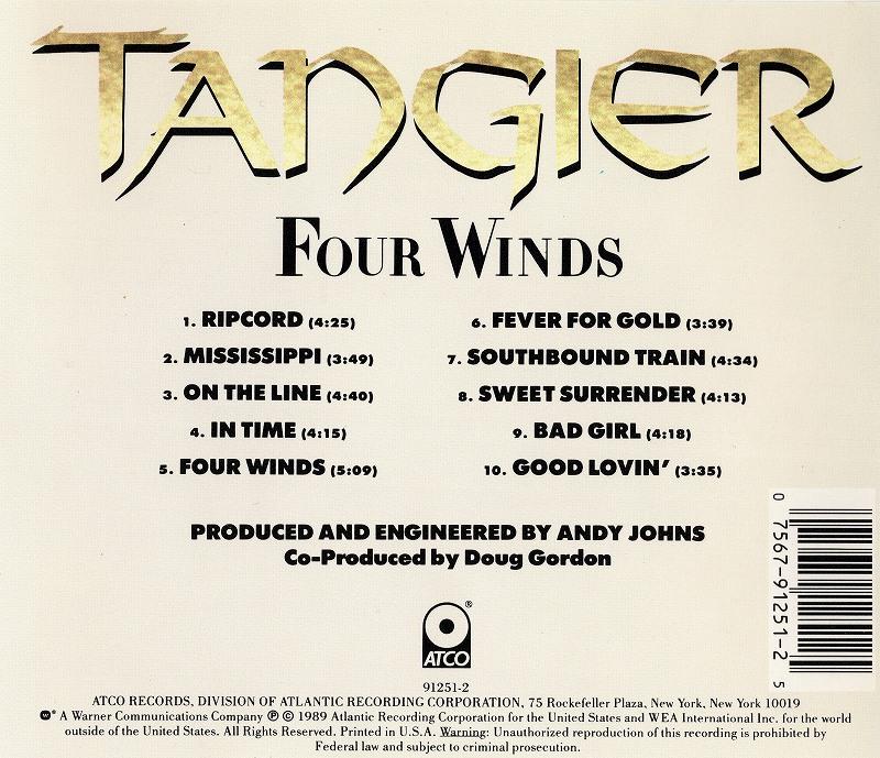 TANGIER/FOUR WINDS タンジアー フォー・ウィンズ 89年作 隠れ名盤