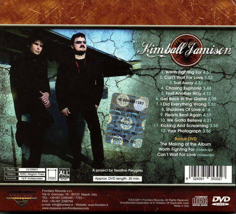 KIMBALL JAMISON キンボール/ジェイミソン 2011年作 DVD付