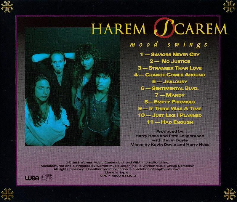 HAREM SCAREM/MOOD SWINGS ハーレム・スキャーレム 国内盤 93年作
