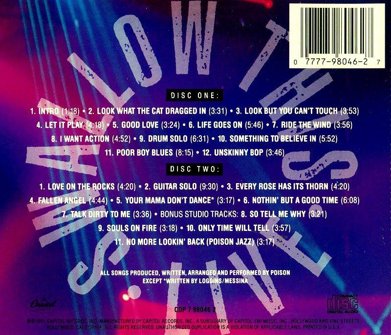 POISON/SWALLOW THIS LIVE ポイズン スワロウ・ディス・ライヴ!! 2枚組