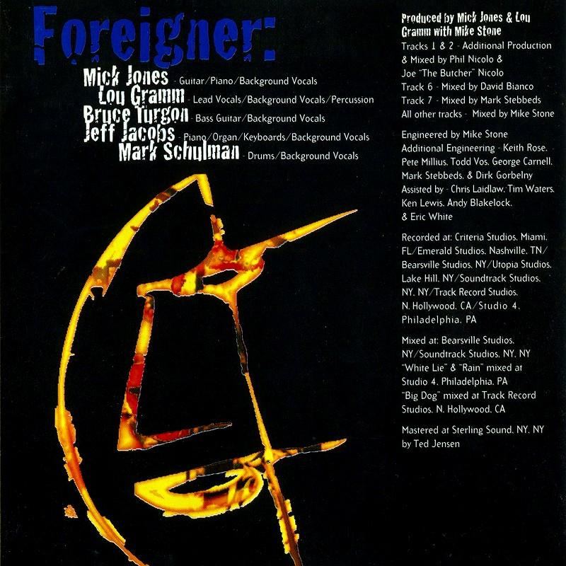 FOREIGNER/MR. MOONLIGHT フォリナー ミスター・ムーンライト 94年作 国内盤