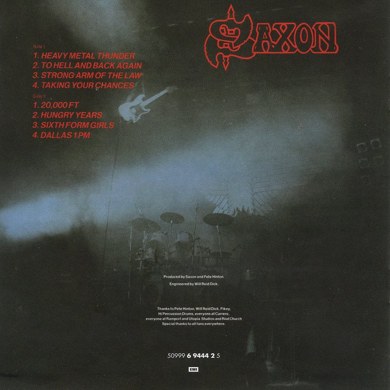 SAXON/STRONG ARM OF THE LAW サクソン 鋼鉄の掟 80年作 リマスター盤