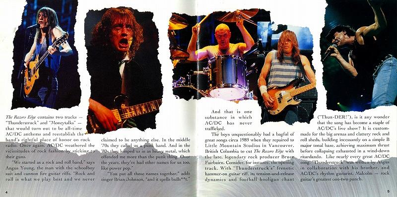 AC/DC THE RAZORS EDGE レイザーズ・エッジ 90年作 デジパック