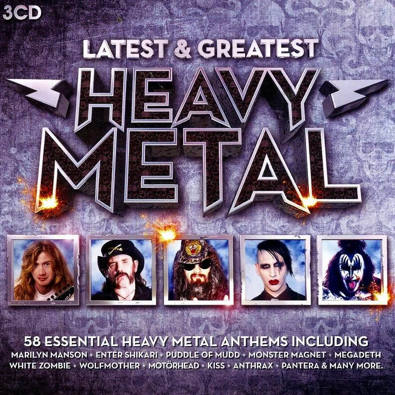 HEAVY METAL/LATEST & GREATEST 3CD BOX SET 全58曲 メタル・オムニバス