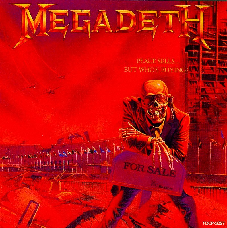 MEGADETH/PEACE SELLS... BUT WHO'S BUYING? 86年作 メガデス 国内盤
