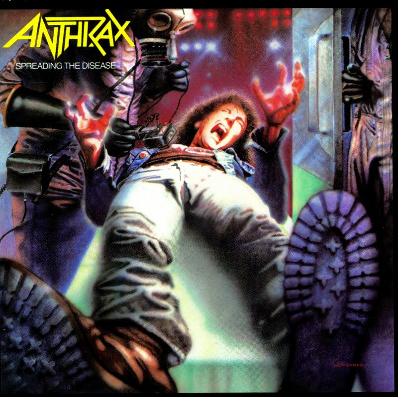 ANTHRAX/SPREADING THE DISEASE アンスラックス 狂気のスラッシュ感染 国内盤