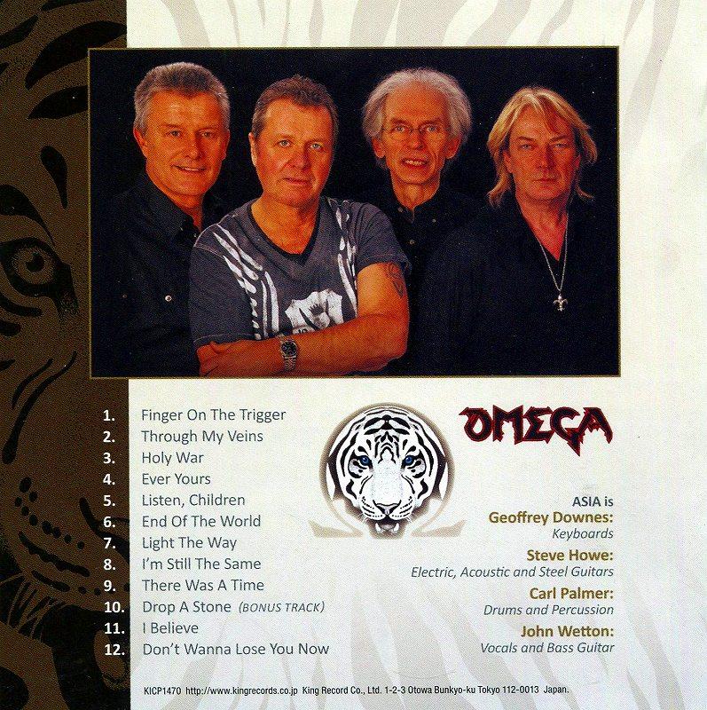 ASIA/OMEGA 2010年作 エイジア オメガ 国内盤 再結集第2弾 超ポップ作