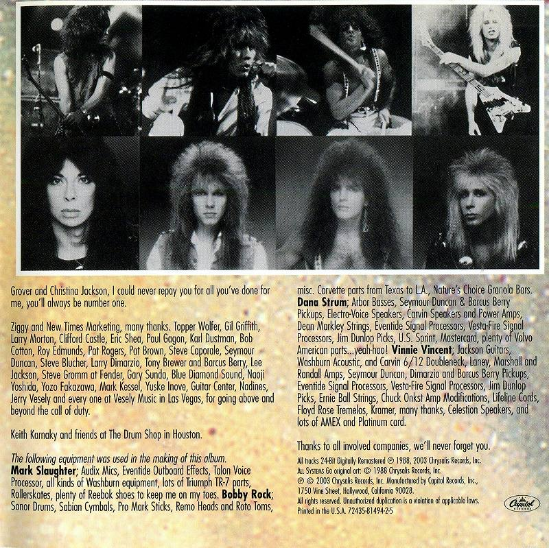 VINNIE VINCENT INVASION/ALL SYSTEMS GO 88年作 リマスター盤