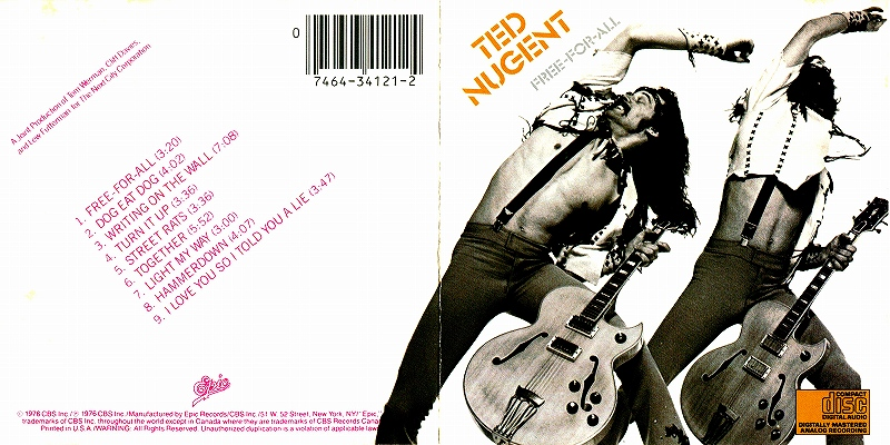 TED NUGENT/FREE-FOR-ALL テッド・ニュージェント ハード・ギター爆撃機 76年作