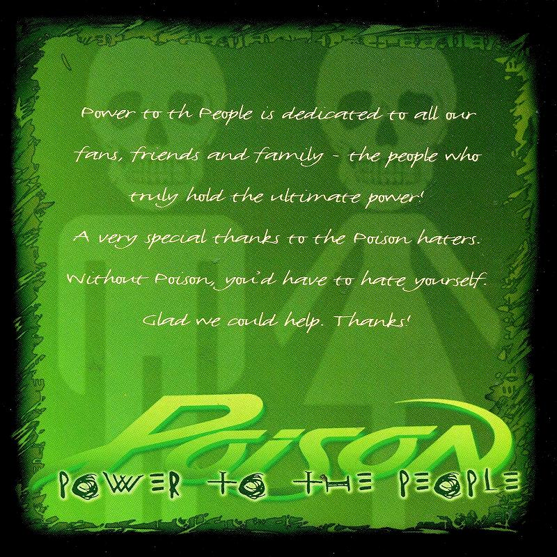 POISON/POWER TO THE PEOPLE ポイズン 2000年作 ライヴ+新曲