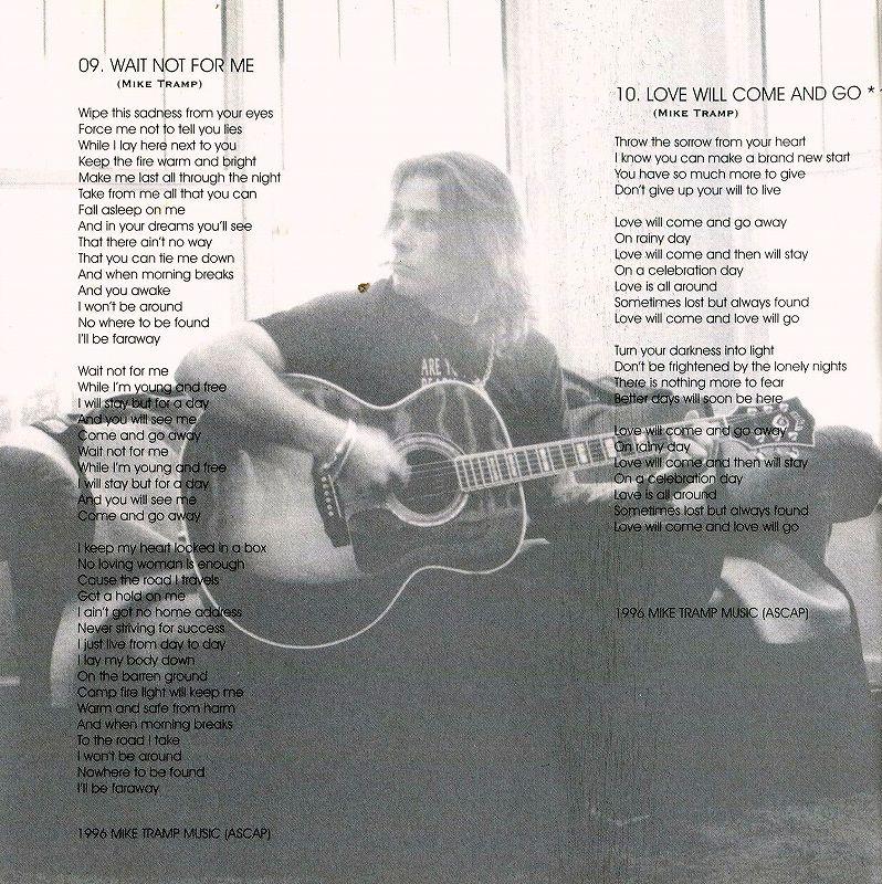MIKE TRAMP/CAPRICORN 97年作 マイク・トランプ WHITE LION