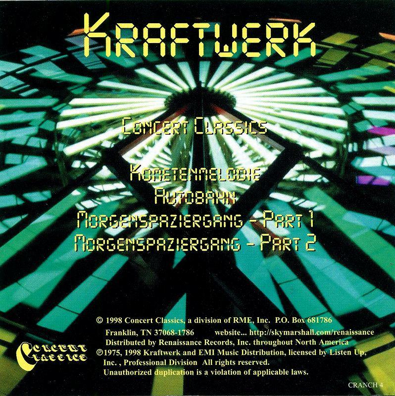 KRAFTWERK/CONCERT CLASSICS クラフトワーク アウトバーン・ツアー ライヴ盤