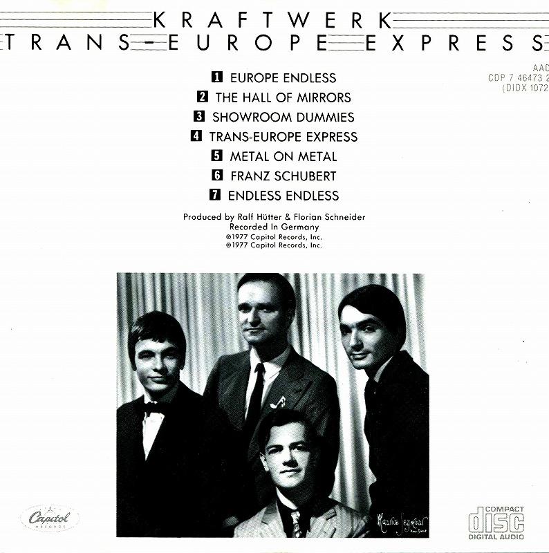 KRAFTWERK/TRANS-EUROPE EXPRESS クラフトワーク ヨーロッパ特急 77年作