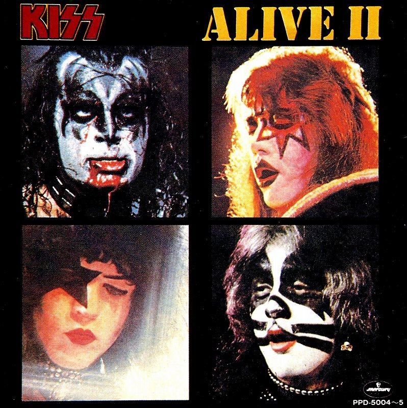 KISS/ALIVE � キッス アライヴ 2  77年リリース 2枚組 国内盤