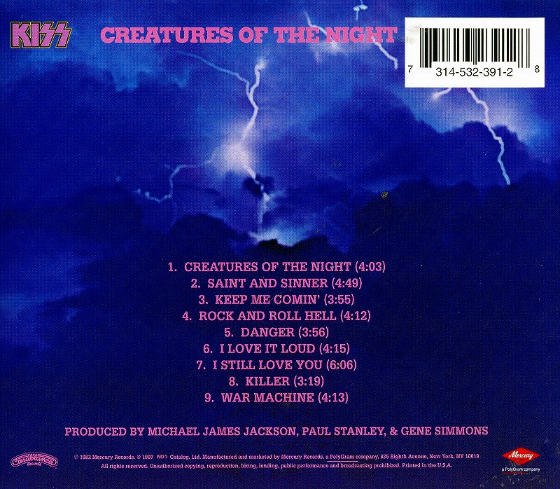 KISS/CREATURES OF THE NIGHT キッス 暗黒の神話 82年作 リマスター盤 新品