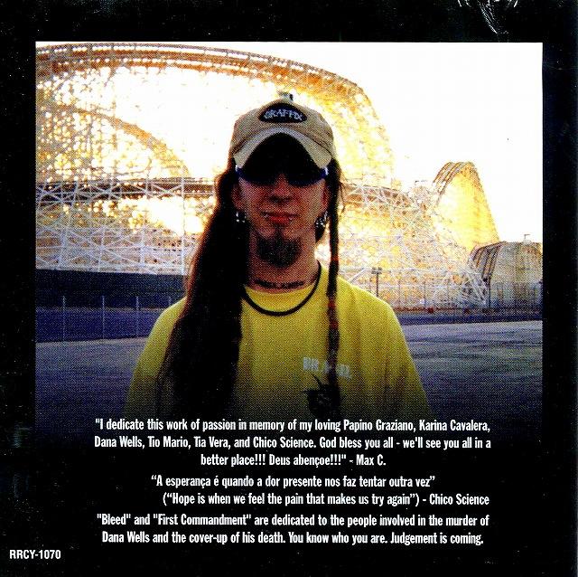 SOULFLY/ソウルフライ 国内盤 98年作 SEPULTURA MAX CAVALERA