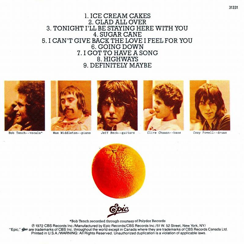 JEFF BECK GROUP/ジェフ・ベック・グループ 72年作 オレンジ・アルバム